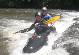 Trained Beginner Whitewater Kayak Class- $100
