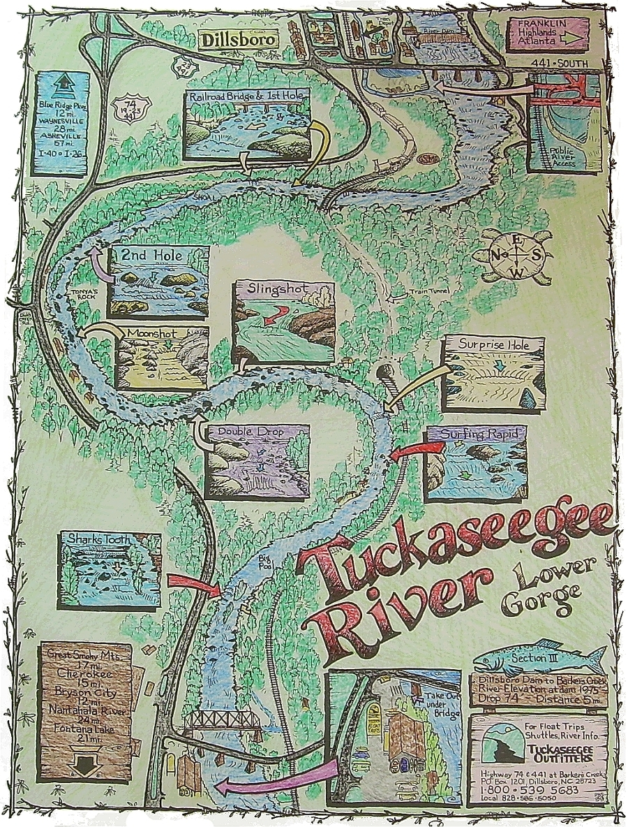 Cartoon Map Of Tuck Gorge