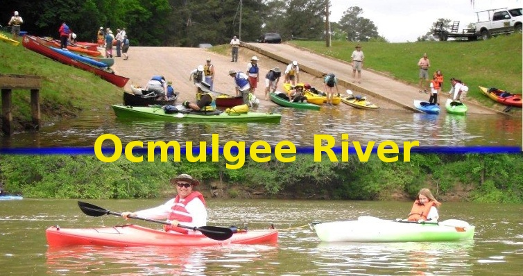 Canoe and Kayaks on the Ocmulgee River